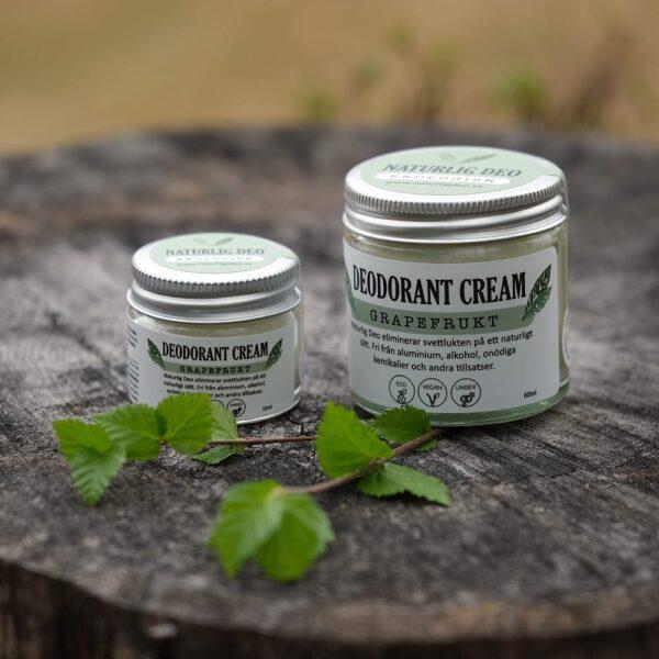 Grapefrukt Deodorant 2st på stubbe